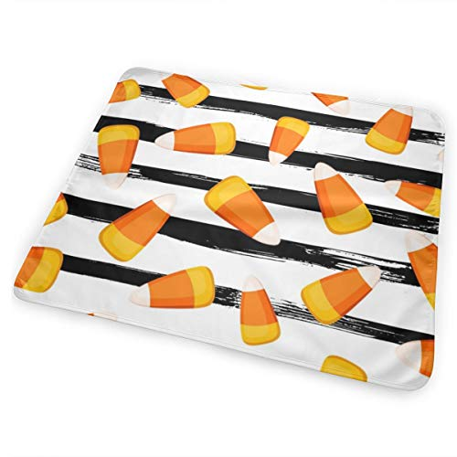 Candy Corn Black And White Stripes Bed Pad Washable Waterproof Urine Pads for Baby Toddler Children and Adults 31.5 X 25.5 inch -