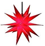 Dekostern Rot 18 Zack Kunststoffstern Leuchtender Stern Innen + Außen Weihnachtsdekoration