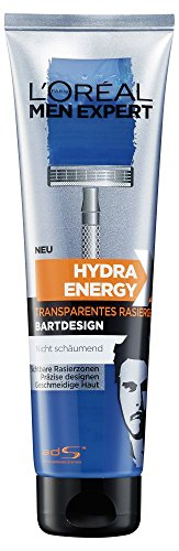 L\'Oreal Men Expert Hydra Energy Extreme, transparentes Rasiergel für präzises Bartstyling gegen Rasurbrand, 150 ml