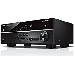 YAMAHA RX-V485 – Amplificateur Home Cinema 145W – Système Bluetooth, Wifi, Airplay, Multiroom – Compatible avec smartphones et ordinateurs – Noir