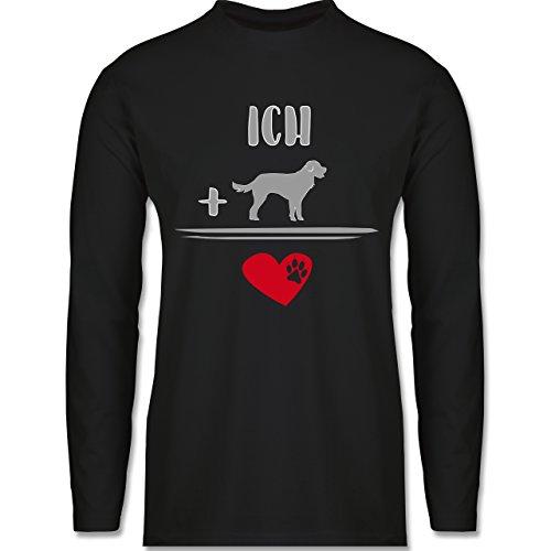 Statement Shirts - Hunde-Liebe - Longsleeve / langärmeliges T-Shirt für Herren Schwarz