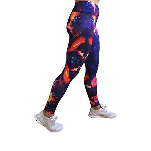 LifestyleULove - Leggings sportivi -  donna Pinkish Hit