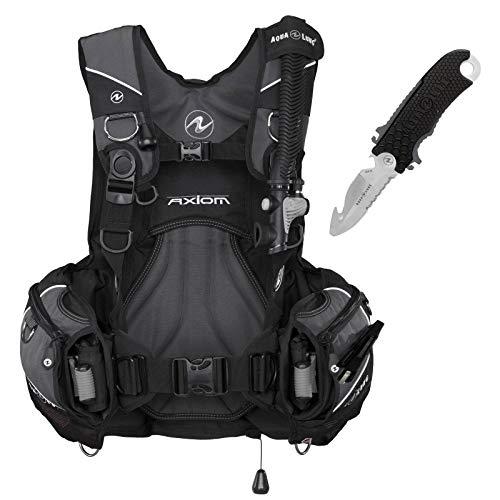 Abenteuertauchen Aqualung Axiom Tarierjacket inklusive Jacketmesser Edelstahl 304, Größe:M/L