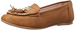 Miss CL Womens Nogel Tan Loafers and Moccasins - 5 UK/India (38 EU)