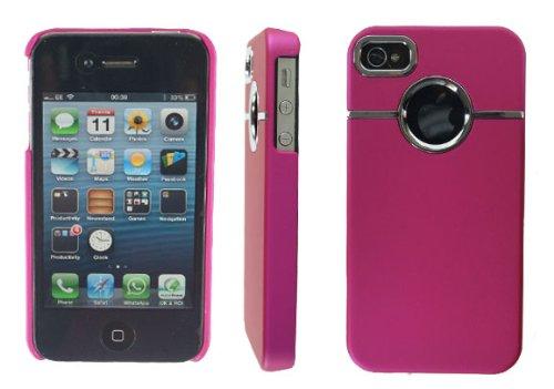 NEW Élégant Chrome Series Coque arrière rigide pour téléphone portable Rose pour Apple i Phone 44G/4S