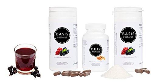 Darmreinigung & Darmflora - Dalex-Detox-Kur für Darm & Leber mit Laktobakterien, Flohsamenschalen, Basenpulver, verschiedenen wichtigen Pflanzenextrakten und Inulin - Ballaststoffe & Bakterienkulturen - 100{21be8e2468c8ff899376c610c2fa32fe8d362784e29e051278e92bd618e73604} vegan, gluten-, laktose- und zuckerfrei