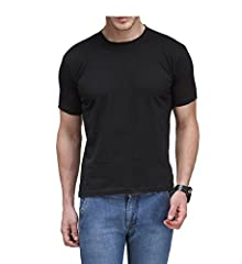 0867a1d4f Scott Men s Premium Cotton Round Neck T-shirt - Black - BSH3-BL-