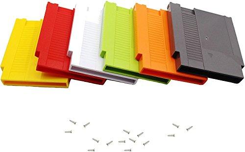 Ambertown 6PCS Game Kartusche Shell Fall 72Pins 8Bit Karte für Nintendo NES mit 3Schrauben Ersatz