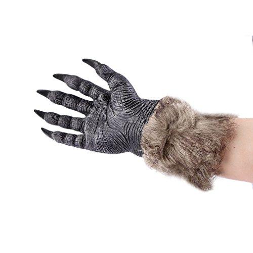 ecyc One Paar Halloween Werwolf Wolf Pfoten Klauen Cosplay Handschuhe Creepy Kostüm für Außenbereich, (Kostüme Werwolf Wolf Und)