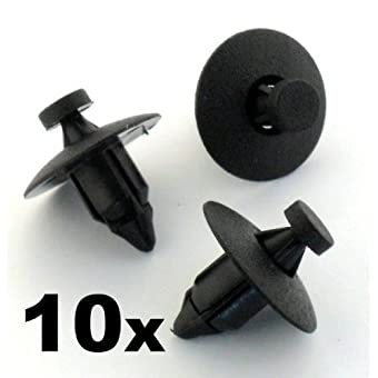Honda 10 x Clips Agrafe Plastique Bouclier / Panneaux de Portes / Garnissages - (Accord / Civic / NSX / FR-V / S2000 / Stream) - 91545-SE0-003 / 91545SE0003 - LIVRAISON GRATUITE!