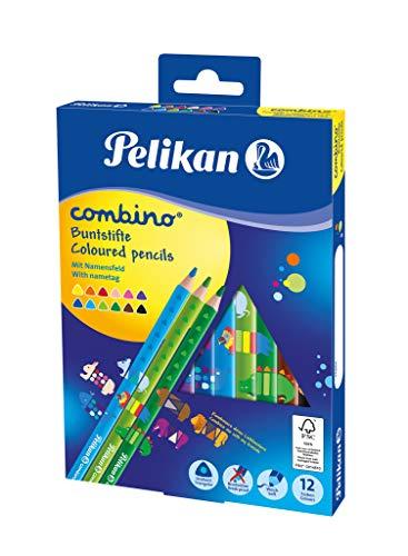 Pelikan 811194 Buntstifte Combino (dreieckig, dick) 12 Stück