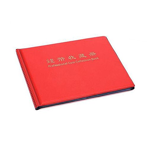 041ef370de Coin Collectors booklet, moneta raccolta album 60 Coin Holders Collection  Storage Coin Book (rosso