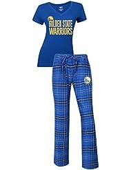 "Golden State Warriors NBA ""Game Day"" Women's T-Shirt Chemise & Flannel Pajama Sleep Set"