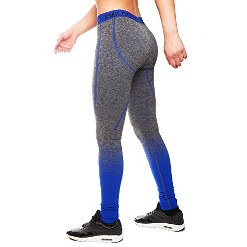 SMILODOX Sport Leggings Damen | Seamless - Figurformende Tight für Sport Fitness Gym Yoga | Sporthose - Workout Trainingshose - Tights...