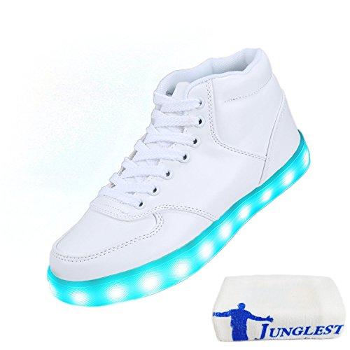[+Piccolo asciugamano]Luci LED colorati bagliore e ricarica scarpe dargento nuovo scarpe casual USB maschio luminoso e di coppia scarpe femmin c9