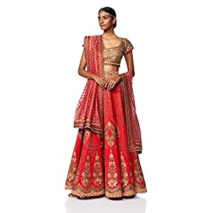 JJ Valaya Women's Lehenga Choli (Pack of 3)