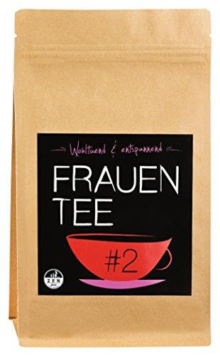 Zenfood Frauentee - Premium Qualität ✮ 100g ✮ Die besten Zutaten aus Tirol – Die ideale Geschenkidee – zur Entspannung und für die Ruhe der Frau - Purer Genuss für Sie ✮ Zyklustee ✮ Kinderwunschtee ✮ Detox Tee