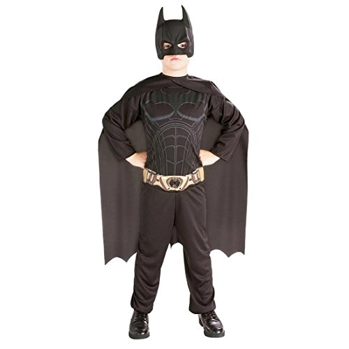 n Superheld Kinderkostüm Fledermaus Faschingskostüm Dark Knight Filmkostüm M 5-6 Jahre (Batman Dark Knight Kostüm Kinder)