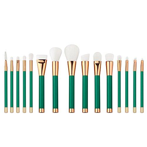wangscanis® Lot de 12 pinceaux de maquillage PRO cosmétique Set de pinceaux doux Fard à paupières sourcils poudre fond de teint visage pinceau Estompeur Brosses outil