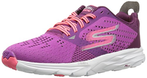 Skechers Go Run Ride 6, Chaussures de Running Femme Violet (Purple/ht. Pink)