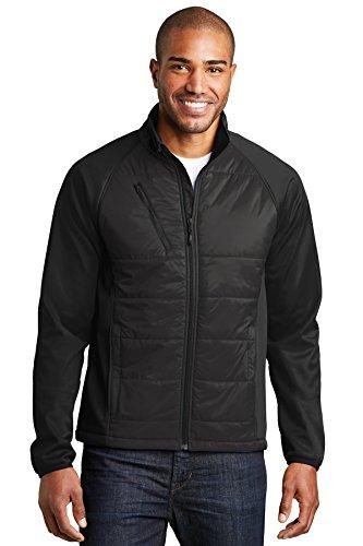 Port Authority® Hybrid Soft Shell Jacket. J787 Deep Black 2XL Hybrid Soft Shell Jacket