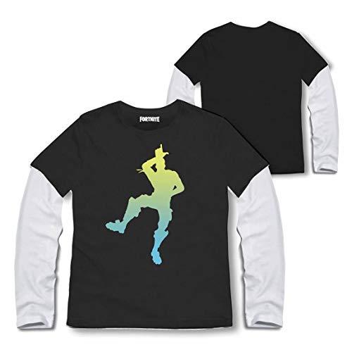 Artesania Cerda FORTNITE Camiseta de Manga Larga, Negro C02, 8 años (
