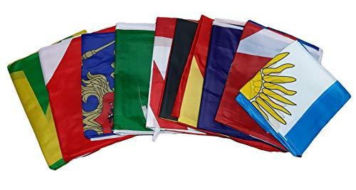 R&f srls 10 bandiera del mondo tessuto misura standard 90 x 150 cm