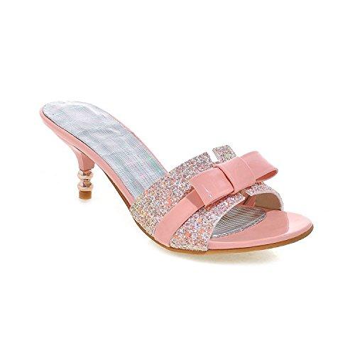ZYUSHIZ Frau Hausschuhe Sandalen den minimalistischen Stil Bow Tie Ziehen Sie T 37EU