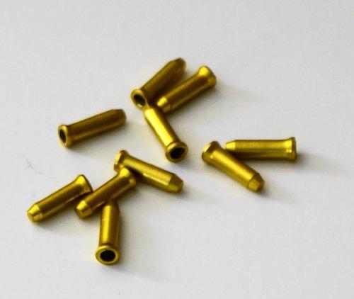 10 x Fibrax Gold/Yellow Alloy Brake / Gear Cable...
