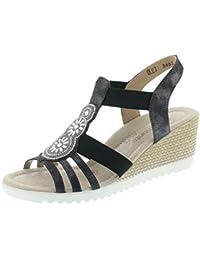 Remonte Sandale Compensée Pour Femme D3461-45 Gris Graphite