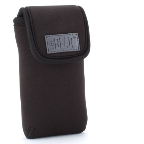 Galleria fotografica Accessory Power USA GEAR FlexARMOR D50, Caso dispositivo in neoprene con moschettone e passante per cintura, Nero
