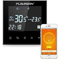 FLOUREON Wlan Thermostat Raumthermostat Heizungsthermostat programmierbar Smart Digital Heizungsregelung Thermostat heizkörper mit LCD Touchscreen für Elektrische Fußbodenheizung