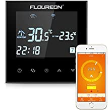 FLOUREON – Termostato 16 A Termostato de Pared Pantalla LCD con Blanco Backlight Digital Smart programable