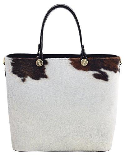 IRIS Shopper Borse Donna Borse Tote Vera Pelle Made in Italy Lavorazione Artigianale