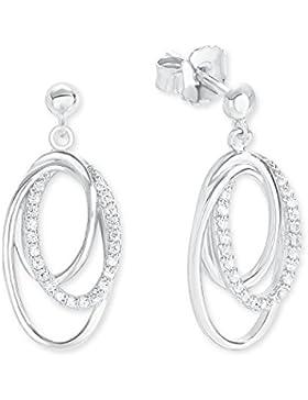 s.Oliver Damen-Ohrhänger Elegant 925 Silber rhodiniert Zirkonia weiß-2012603