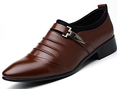 Marrón Ocasionales Británica De Zapatos 47 Grande Hombres Señalaron 45 De Negocios 46 Vestido Mlfmhr Moda Banquete Los zOwwSq