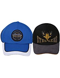 Stellers Embroidered Multicolor Cap's (Pack of 2)