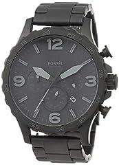 Idea Regalo - Fossil Orologio Cronografo Quarzo Uomo con Cinturino in Acciaio Inox JR1401