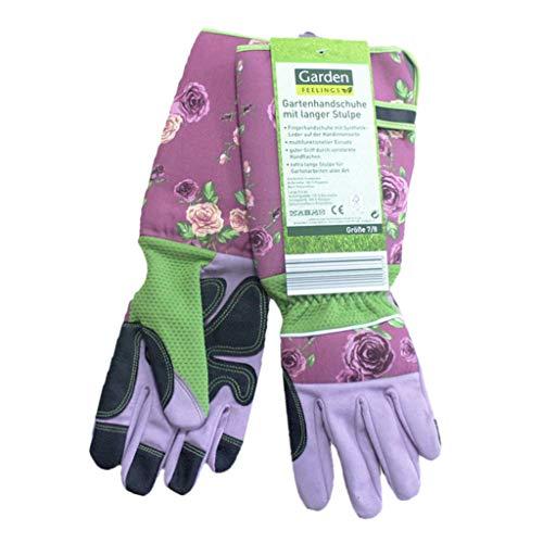 Fenteer Gartenhandschuhe, verstärkten Handflächen und Fingerspitzen - Rosa