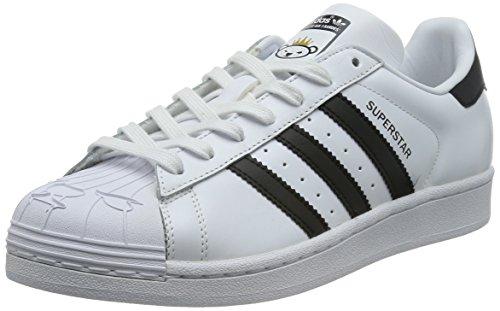 adidas Originals Superstar Nigo Bearfoot, Baskets Basses Mixte Adulte Blanc