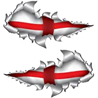 Totally Graphics St George England World cup 2018 Metal Rip Open Sticker 150MM