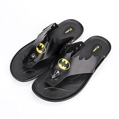Slippers & amp da uomo;Pelle Estate laccio dietro Comfort Light Soles microfibra Outdoor casual F sandali US7.5 / EU39 / UK6.5 / CN40