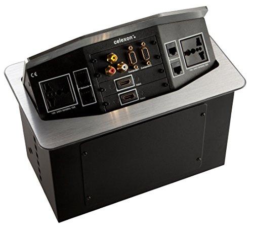 celexon Expert Tischanschlussfeld TA-300S_INT | Einfacher & schneller Anschluss mobiler Geräte an Projektor oder Display | Ordnung auf und unter dem...