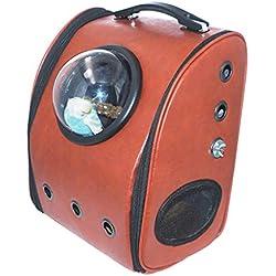 Wolegequ Loros Salir para Mochilas Llevar Espacio Transparente Cajas de saliente portátiles de Mascotas