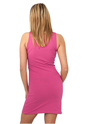 TB464 Ladies Sleeveless Dress langes Top / Kleid Fuchsia