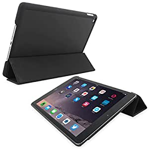 Snugg iPad Air 2 Ultra Thin Smart Case - Cover with Flip Stand & Lifetime Guarantee (Black) for Apple iPad Air 2