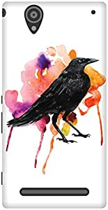 The Racoon Grip The Crow's Colours hard plastic printed back case / cover for Sony Xperia T2 Ultra