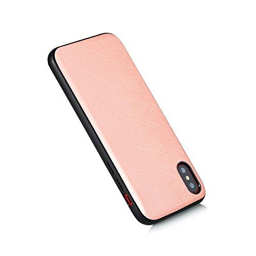 iPhone X Hülle, Voguecase TPU + PC + PU 3 in 1 Silikon Schutzhülle / Case / Cover / Hülle / TPU Gel Skin für Apple iPhone X(Große Augen) + Gratis Universal Eingabestift Pink