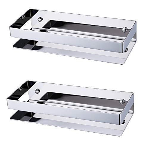 Cestino portaoggetti per doccia di kes. in acciaio inossidabile sus 304, da appendere, antiruggine, montaggio a parete, finitura spazzolata, bsc205, argento