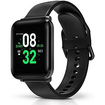 BlitzWolf Smartwatch, Reloj Inteligente IP68 Impermeable, HD Pantalla de 1.3 Pulgadas, Pulsera Actividad, con Pulsómetro, Podómetro, Monitor de Sueño, ...